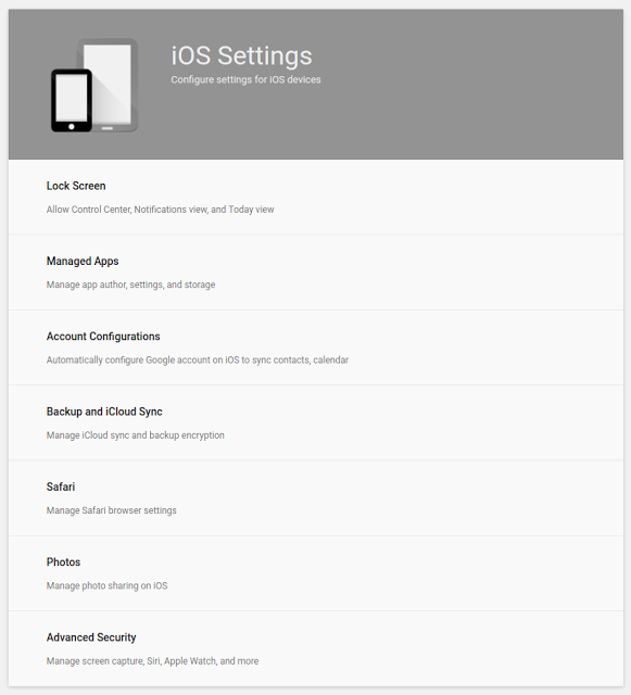 iOS Settings version 2